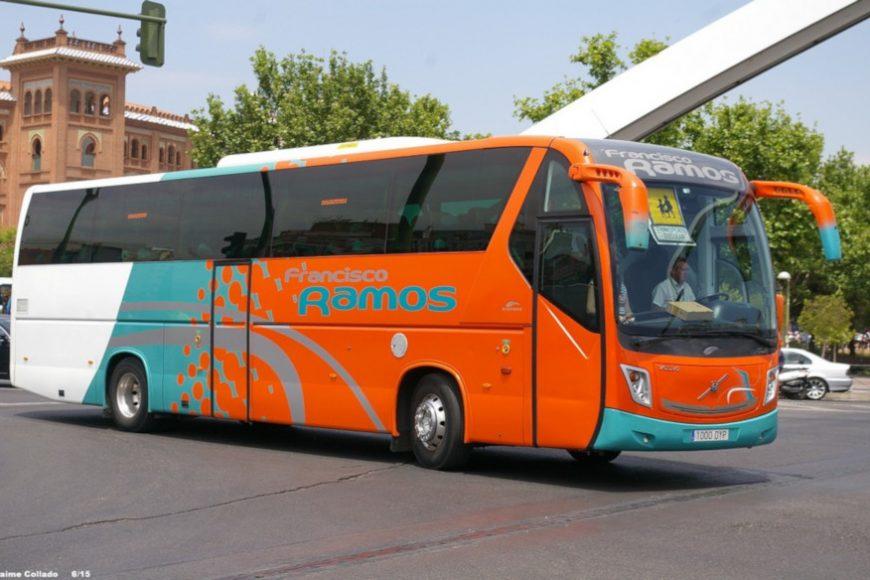 Autocares Francisco Ramos también se suma a la desinfección